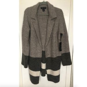 Rachel Zoe NWT Striped Wool Sweater Coat Cardigan